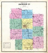 County Outline Map, Jackson County 1875